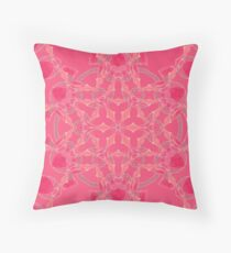 Red Over Twist Fall Into Winter Design Collection of Green Bee Mee Throw Pillow