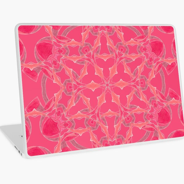 Red Over Twist Fall Into Winter Design Collection of Green Bee Mee Laptop Skin