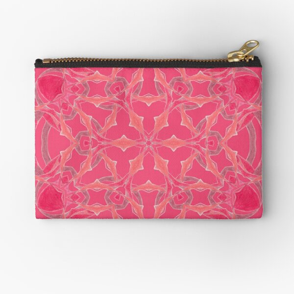 Red Over Twist Fall Into Winter Design Collection of Green Bee Mee Zipper Pouch