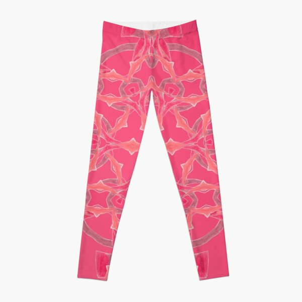 Red Over Twist Fall Into Winter Design Collection of Green Bee Mee Leggings