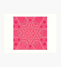 Red Over Twist Fall Into Winter Design Collection of Green Bee Mee Art Print