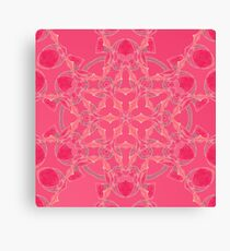 Red Over Twist Fall Into Winter Design Collection of Green Bee Mee Canvas Print