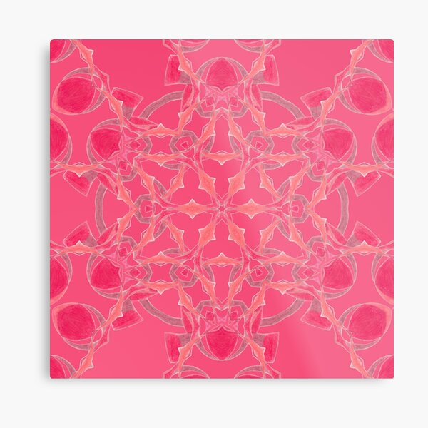 Red Over Twist Fall Into Winter Design Collection of Green Bee Mee Metal Print