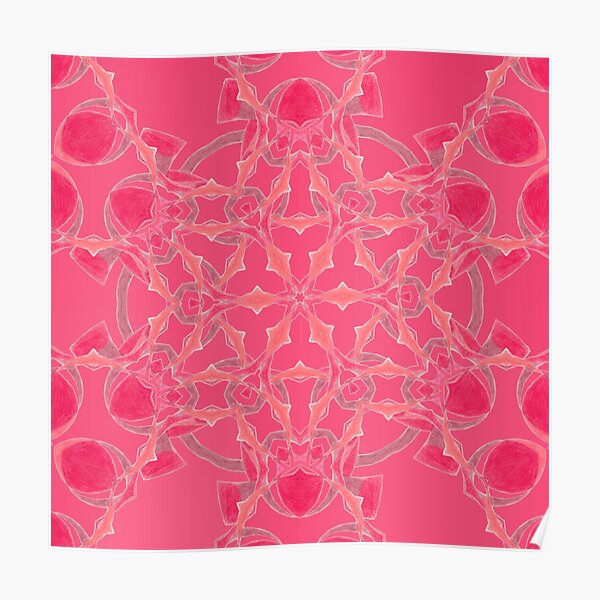 Red Over Twist Fall Into Winter Design Collection of Green Bee Mee Poster