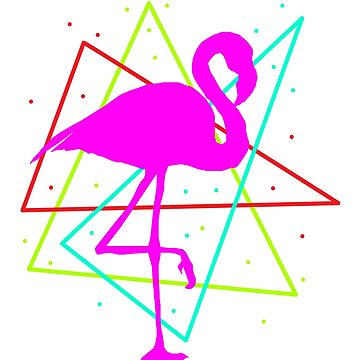 Flamingo Pink Pink Water Bird Exotic Caribbean Gift by ArtOfCopenhagen