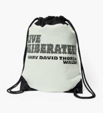 Live Deliberately - Walden Drawstring Bag