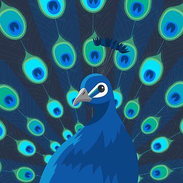 Peacock Portrait by CreatedProto