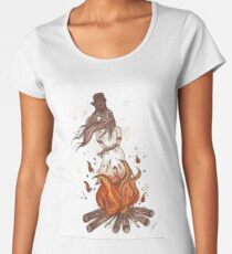 Witches Burn in the Flames  Women's Premium T-Shirt