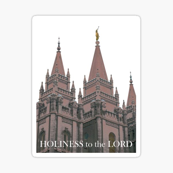 Holiness to the LORD by Jerald Simon Sticker