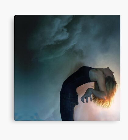the storm against the light Canvas Print