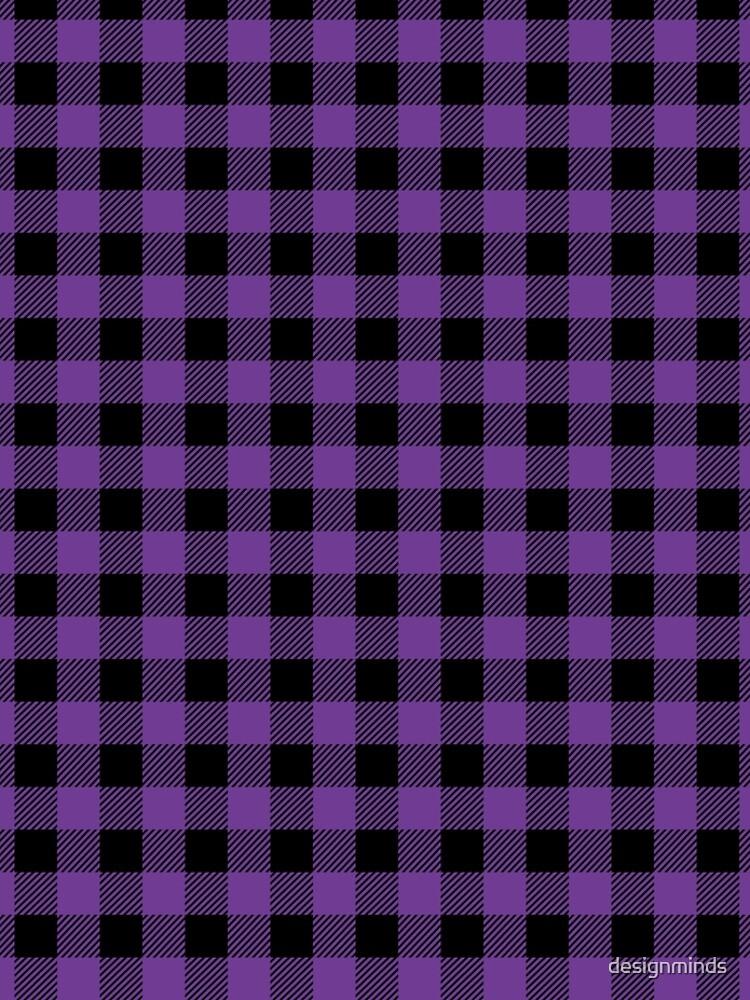 Plaid (purple/black) by designminds