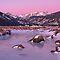 Winter Landscapes at Sunrise or Sunset