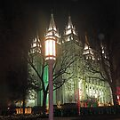 The Salt Lake Temple at Christmastime by jeraldsimon