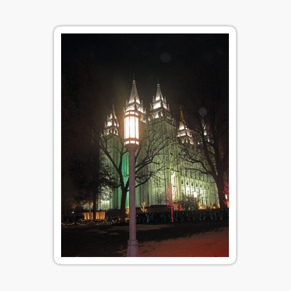 The Salt Lake Temple at Christmastime Sticker