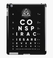 All Seeing Eye Chart Conspiracy  iPad Case/Skin