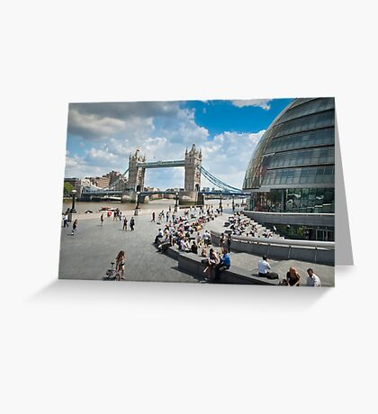 London City Hall and Tower Bridge Greeting Card