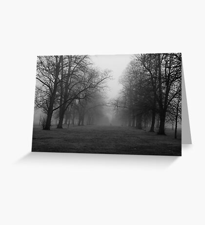 Walk In The Fog Greeting Card