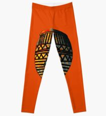 AFRICAN ART MASK1 Leggings