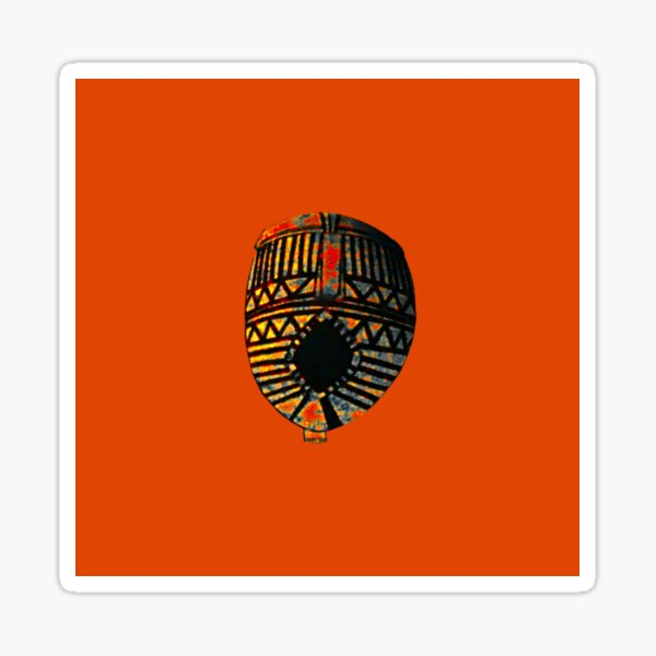 AFRICAN ART MASK1 Sticker