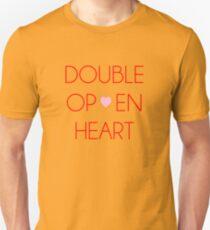 Doppel offenes Herz    Zankyou kein Terror Unisex T-Shirt