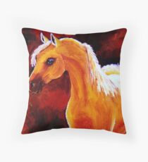 Horse in the Light Throw Pillow