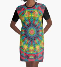 Charcoal and Fruit Ties Fall Into Winter Collection at Green Bee Mee Graphic T-Shirt Dress