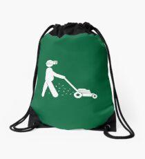 The Lawnmower Dad, Happy Gardening Drawstring Bag