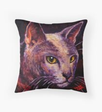 Shorthaired Blue Throw Pillow