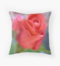 Gauze Rose Throw Pillow