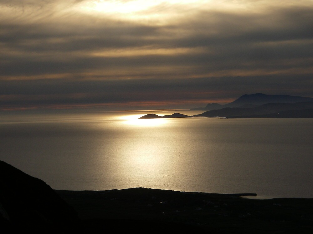 Achill Island as seen from Croagh Patrick by amuigh-anseo