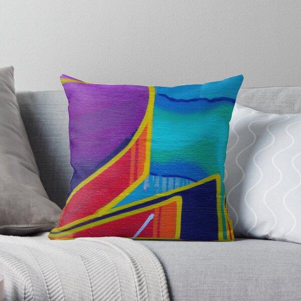 Color Movement Throw Pillow