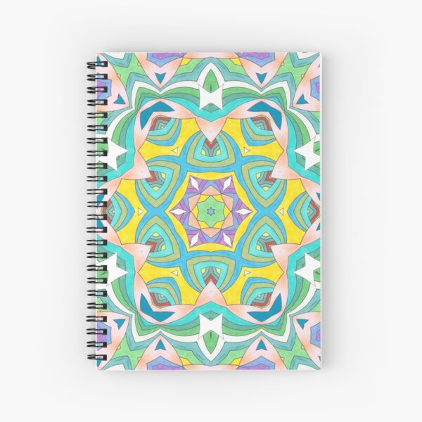Colors and Bows Fall Into Winter Design Collection at Green Bee Mee Spiral Notebook
