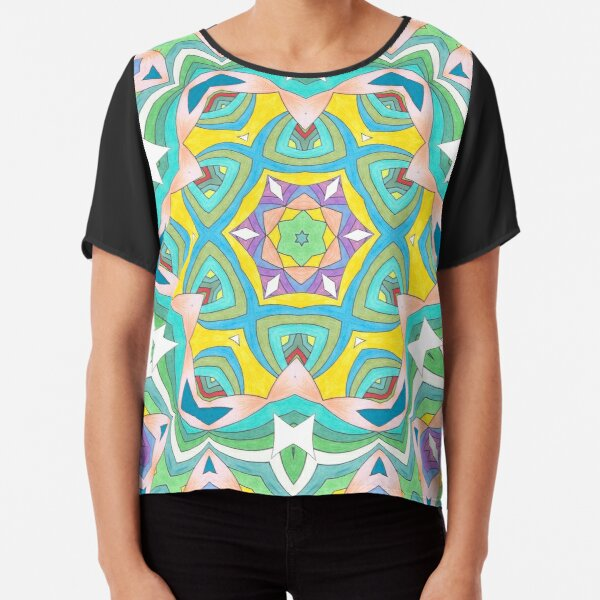Colors and Bows Fall Into Winter Design Collection at Green Bee Mee Chiffon Top