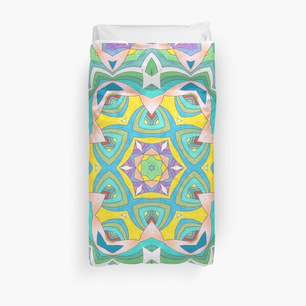 Colors and Bows Fall Into Winter Design Collection at Green Bee Mee Duvet Cover