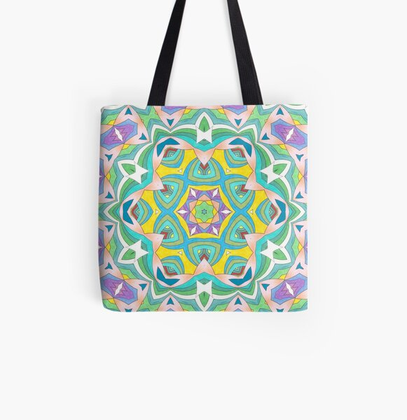 Colors and Bows Fall Into Winter Design Collection at Green Bee Mee All Over Print Tote Bag