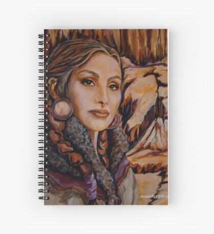 Sandstone ~ Wrapped in Tradition Series Spiral Notebook