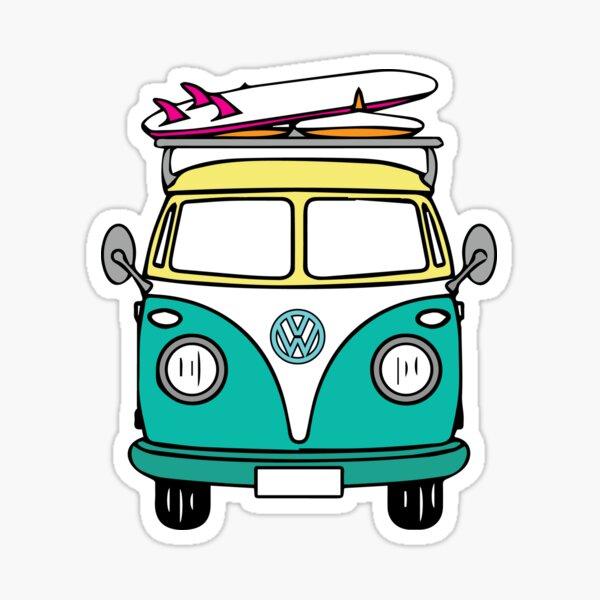 Hippie Van Sticker