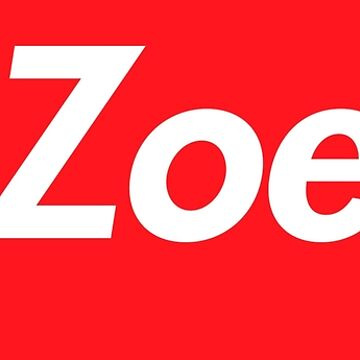 Hello My Name Is Zoe Name Tag by efomylod
