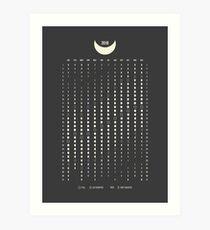 Moon Phases Calendar 2019 Art Print