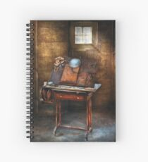 Artist - The etching table Spiral Notebook