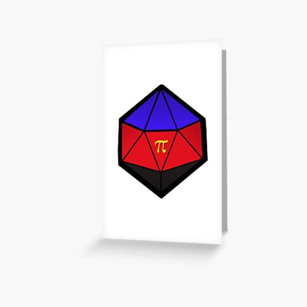 Polyamory Pride D20 Greeting Card