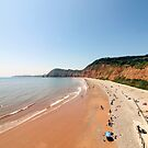 Jacobs Ladder Beach in Sidmouth, Devon by Leon Woods
