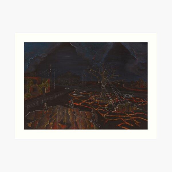Lava Fishers Art Print