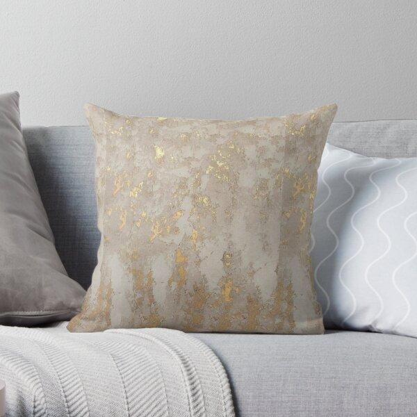 Metallic Gold Throw Pillow