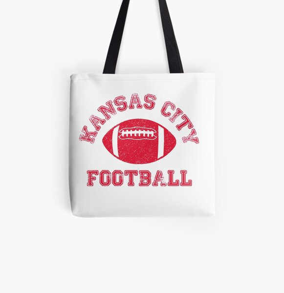 Kansas City Distressed Pro Football Team All Over Print Tote Bag