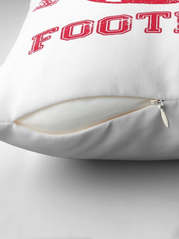 Alternate view of Kansas City Distressed Pro Football Team Throw Pillow