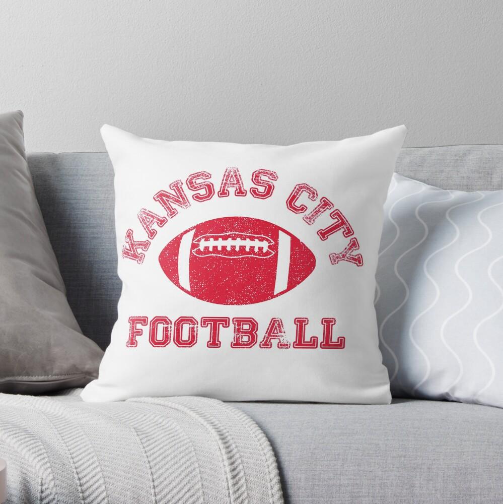 Kansas City Distressed Pro Football Team Throw Pillow