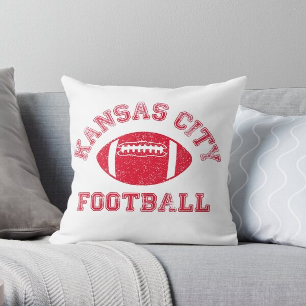 Kansas City Distressed Pro Football Team Throw Pillow