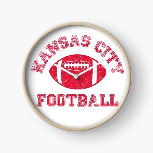 Kansas City Distressed Pro Football Team Clock