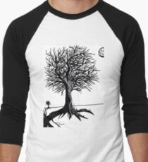 Leafless Tree Men's Baseball ¾ T-Shirt